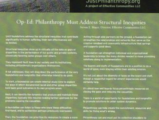 Structural inequities and philanthropy